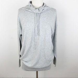 Athleta Grey Pullover Hoodie Cotton Medium